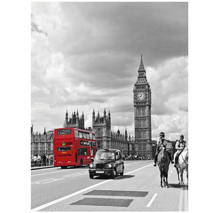 Gravura London Bus 50x40cm