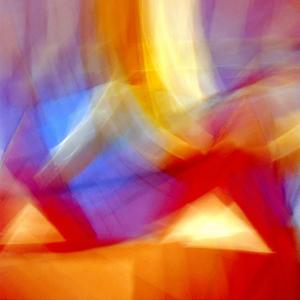 Gravura Luzes Abstratas 47x47cm