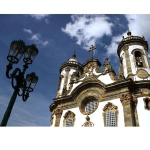 Gravura Minas Gerais Igreja de Congonhas 30x40