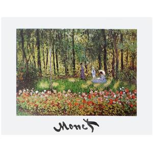 Gravura Monet Jardim 30x40cm