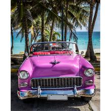 Gravura Pink Car 30x24cm