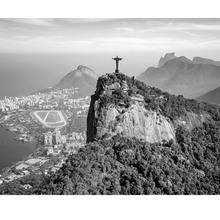 Gravura Rio De Janeiro Cristo 40x50