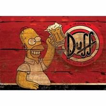 Gravura Simpsons Duff 21x30cm