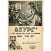 Gravura Skype 30x21cm