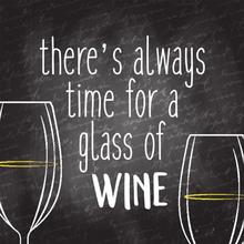 Gravura Time For Wine 20x20cm