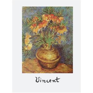 Gravura Van Gogh Flores 40x30cm