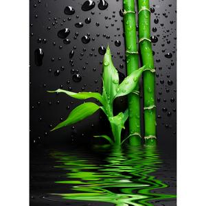 Gravura Verde & Gotas 70x50cm