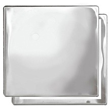 Grelha Aço Inox Cromado Quadrado Com fecho 15cm  Romar