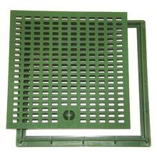 Grelha Verde com Aro Polipropileno 30x30cm Odem