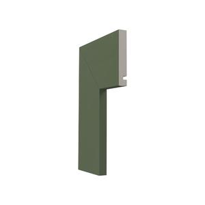 Guarnição Lisa Para Portas 240x10x1,6cm Eucalipto Santa Luzia