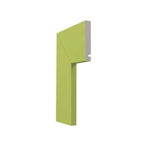 Guarnição Lisa Para Portas 240x10x1,6cm Pistache Santa Luzia