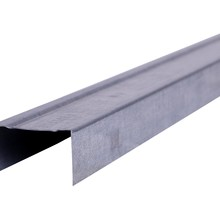 """Perfil de aço no formato """"U"""", Peça fabricada industrialmente, em aço galvanizado."""