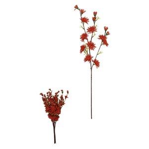 Haste Artificial Flor Crisântemo 56cm Vermelho Flor Arte