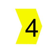 """Identificador para Cabos """"4"""" Amarelo MHG2/5 Hellermann"""