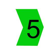 """Identificador para Cabos """"5"""" Verde MHG2/5 Hellermann"""