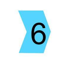 "Identificador para Cabos ""6"" Azul MHG2/5 Hellermann"