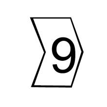 """Identificador para Cabos """"9"""" Branco MHG2/5 Hellermann"""