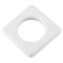 Ilhós Quadrado Plástico com 20 Branca D28mm Couselo