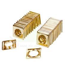 Ilhós Quadrado Plástico com 20 Dourada D19 Couselo