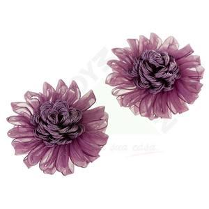 Imã com 2 Unidades Flores Púrpura Diâmetro 9,5cm Importado