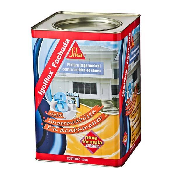Tinta impermeabilizante parede igolflex fachada 18l sika - Impermeabilizante para paredes ...