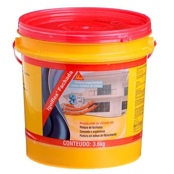 Tinta impermeabilizante parede igolflex fachada 3 6kg sika - Impermeabilizante para paredes ...