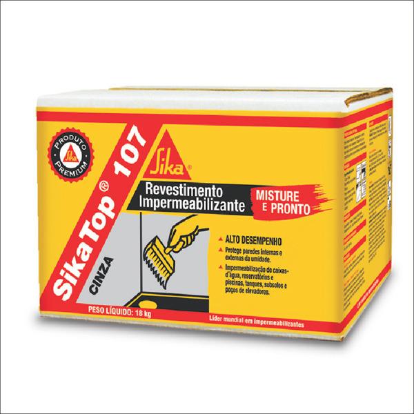 Impermeabilizante sika top 107 cinza argamassa aditivo 18kg sika leroy merlin - Impermeabilizante para paredes ...