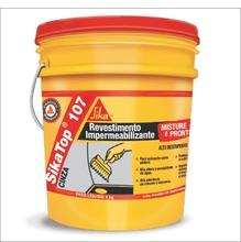 Impermeabilizante Modelo Sika Top 107 Cinza Composição Argamassa Aditivo Fornecimento Balde 4 kg