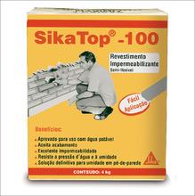 IMPERMEABILIZANTE MODELO SIKA TOP 107 COR CINZA COMPOSICAO ARGAMASSA POLIMERICA FORNECIMENTO 4KG