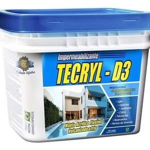 Impermeabilizante Tecryl D3 Azul 12Kg