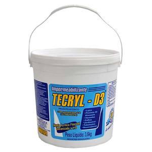 Impermeabilizante Tecryl D3 Cinza 3,6Kg Tecryl