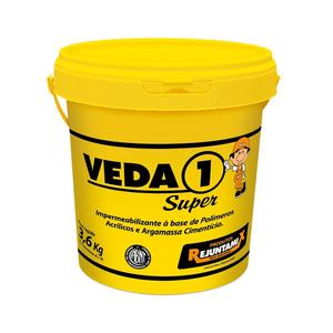 Impermeabilizante para Umidades e Vazamentos Veda 1 Super Branco Galão de 3,6Kg Rejuntamix