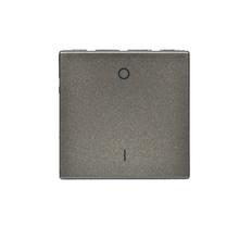 Interruptor Bipolar Simples Aluminio Arteor Pial Legrand