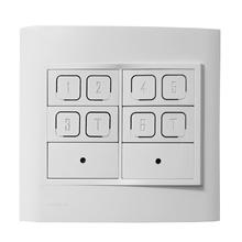 Interruptor Inteligente 3 zonas, 2 cenas e sensor IR MyWay Easy Automation