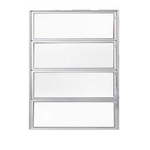 Janela de Abrir Basculante de Alumínio 0,80x0,60m Branco Fortline Atlântica