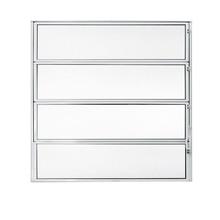 Janela de Abrir Basculante de Alumínio 0,80x0,80m Branco Fortline Atlântica
