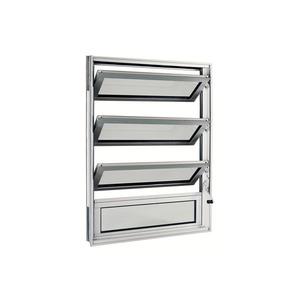 Janela Basculante em Alumínio Natural Acetinado 80x60cm sem grade Aluminium Sasazaki