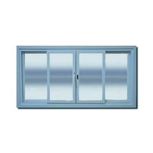 Janela com Proteção Térmica de Correr Lisa PVC Vidro Duplo 6mm 1,00x2,00m Selbach