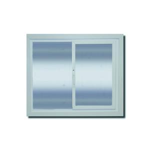 Janela com Proteção Térmica de Correr Lisa PVC Vidro Duplo 6mm 1,20x1,20m Selbach