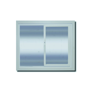 Janela com Proteção Térmica de Correr Lisa PVC Vidro Duplo 6mm 1,20x1,50m Selbach