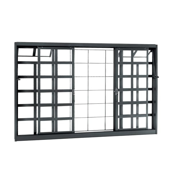 janela de correr lisa de a o 1 20x2 00m sasazaki leroy merlin. Black Bedroom Furniture Sets. Home Design Ideas
