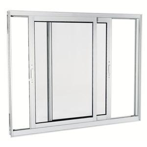 Janela Correr Aluminio Acetinado  S/Bandeira S/Grade C/Vidro Liso 2 Folhas 100,00 X 120,00 X 9,00 Cmaluminium Sasazaki