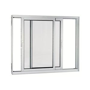 Janela Correr Aluminio Acetinado  S/Bandeira S/Grade C/Vidro Liso 2 Folhas 120,00 X 150,00 X 9,00 Cmaluminium Sasazaki