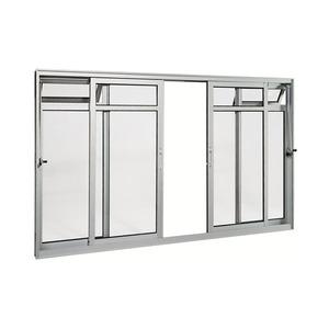 Janela Correr Aluminio Acetinado  C/Bandeira S/Grade C/Vidro Liso 4 Folhas 100,00 X 150,00 X 9,00 Cmaluminium Sasazaki