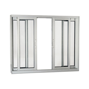 Janela Correr Aluminio Acetinado  S/Bandeira S/Grade C/Vidro Liso 4 Folhas 100,00 X 200,00 X 9,00 Cmaluminium Sasazaki