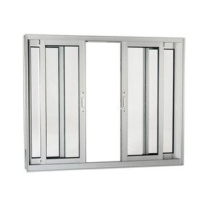 Janela Correr Aluminio Acetinado  S/Bandeira S/Grade C/Vidro Liso 4 Folhas 120,00 X 150,00 X 9,00 Cmaluminium Sasazaki