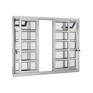 Janela Correr Aluminio Acetinado  C/Bandeira S/Grade C/Vidro Liso 4 Folhas 120,00 X 200,00 X 9,00 Cmaluminium Sasazaki