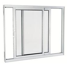 Janela Correr Aluminio Branco  S/Bandeira S/Grade C/Vidro Liso 2 Folhas 100,00 X 120,00 X 9,00 Cmaluminium Sasazaki