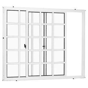 Janela Correr Aluminio Branco  S/Bandeira   2 Folhas 100 X 120 X  Cmmarte Trifel