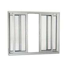 Janela Correr Aluminio Branco  S/Bandeira S/Grade C/Vidro Liso 4 Folhas 100,00 X 200,00 X 9,00 Cmaluminium Sasazaki
